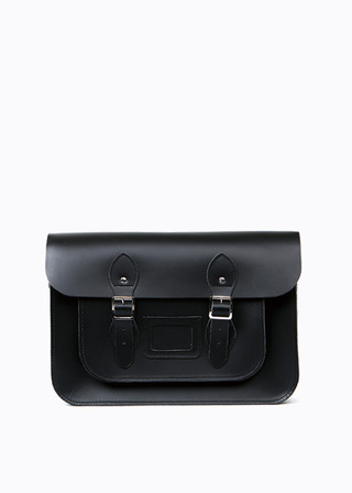 "[LEATHER SATCHEL] No.B#LS1501LEATHER SATCHEL 15"" (black)"