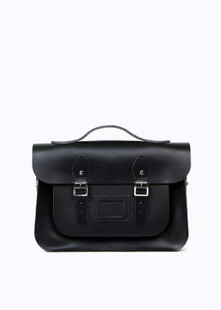 "[LEATHER SATCHEL] No.B#LS1503LEATHER SATCHEL 15"" (black/3way)"