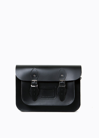 "[LEATHER SATCHEL] No.B#LS1301LEATHER SATCHEL 13"" (black)"