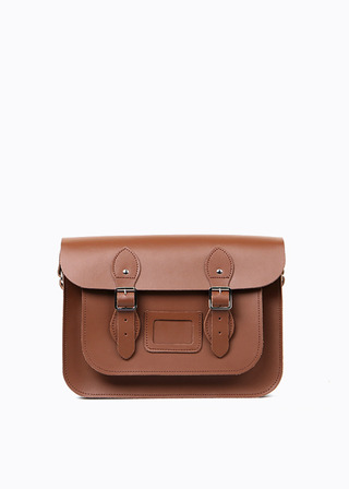 "LEATHER SATCHEL 13"" (brown) B#LS1301"