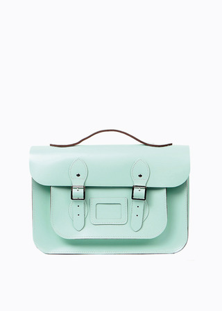 "[LEATHER SATCHEL] No.B#LS1502LEATHER SATCHEL 15"" (MINT/strap)"