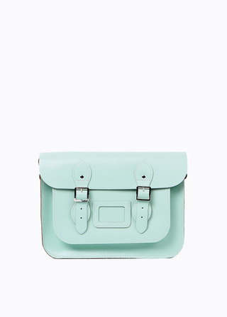 "LEATHER SATCHEL 13"" (MINT) B#LS1301"