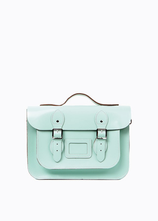 "[LEATHER SATCHEL] No.B#LS1302LEATHER SATCHEL 13"" (MINT/strap)"