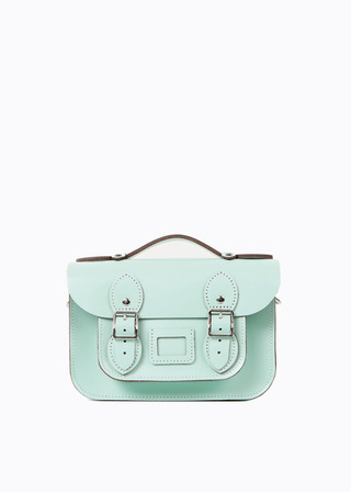 "[LEATHER SATCHEL] No.B#LS0802LEATHER SATCHEL 8.5"" (MINT/strap)"