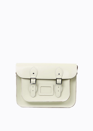 "LEATHER SATCHEL 13"" (IVORY) B#LS1301"