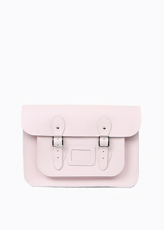 "[LEATHER SATCHEL] No.B#LS1501LEATHER SATCHEL 15"" (BABYPINK)"