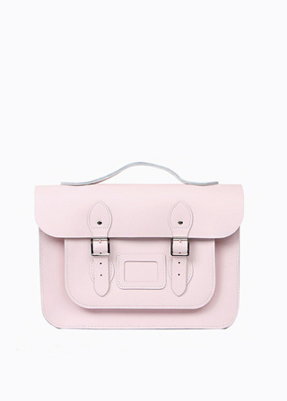 "[LEATHER SATCHEL] No.B#LS1503LEATHER SATCHEL 15"" (BABYPINK/3way)"