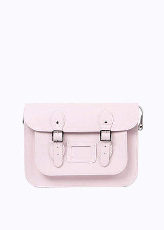 "[LEATHER SATCHEL] No.B#LS1301LEATHER SATCHEL 13"" (BABYPINK)"