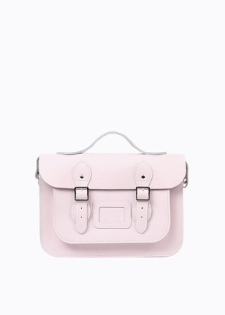 "[LEATHER SATCHEL] No.B#LS1302LEATHER SATCHEL 13"" (BABYPINK/strap)"