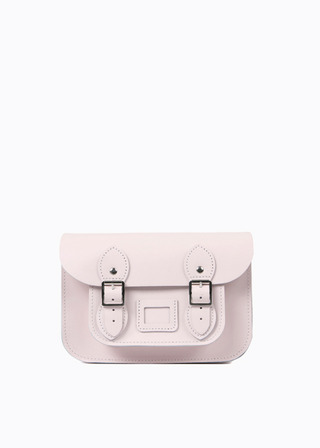 "[LEATHER SATCHEL] No.B#LS0801LEATHER SATCHEL 8.5"" (BABYPINK)"