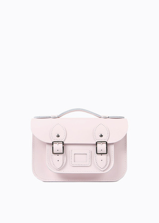 "[LEATHER SATCHEL] No.B#LS0802LEATHER SATCHEL 8.5"" (BABYPINK/strap)"