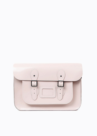 "[LEATHER SATCHEL] No.B#LS1501LEATHER SATCHEL 15"" (PINK)"