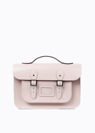 "[LEATHER SATCHEL] No.B#LS1502LEATHER SATCHEL 15"" (PINK/strap)"