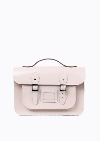 "LEATHER SATCHEL 15"" (PINK/3way) B#LS1503"
