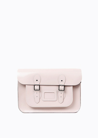"[LEATHER SATCHEL] No.B#LS1301LEATHER SATCHEL 13"" (PINK)"
