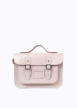 "[LEATHER SATCHEL] No.B#LS1302LEATHER SATCHEL 13"" (PINK/strap)"