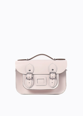 "LEATHER SATCHEL 8.5"" (PINK/strap) B#LS0802"