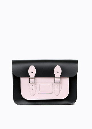 "LEATHER SATCHEL 15"" (COMBI-PINK) B#LS1501"