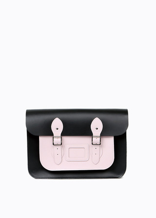 "LEATHER SATCHEL 13"" (COMBI-PINK) B#LS1301"